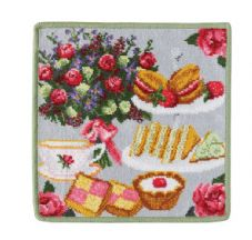 "Feiler ""London Afternoon Tea"" Washcloth - Green"